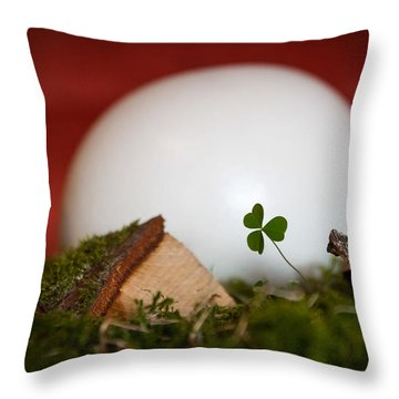 the egg - Happy Easter Throw Pillow
