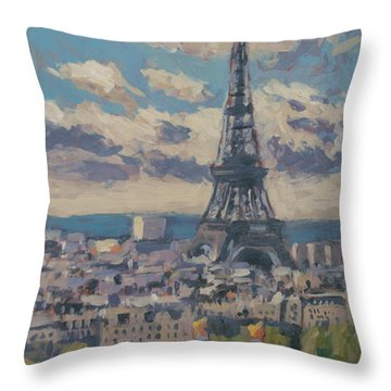 The Eiffel Tower Paris Throw Pillow