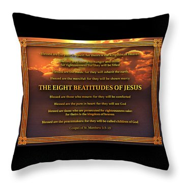 The Eight Beatitudes Of Jesus Throw Pillow