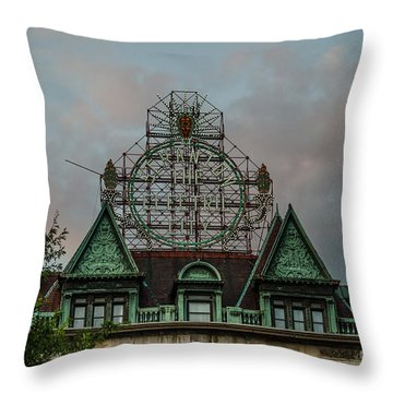 The Electric City Throw Pillow