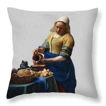 The Elegance Of The Kitchen Maid Throw Pillow