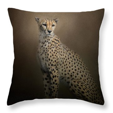 The Elegant Cheetah Throw Pillow