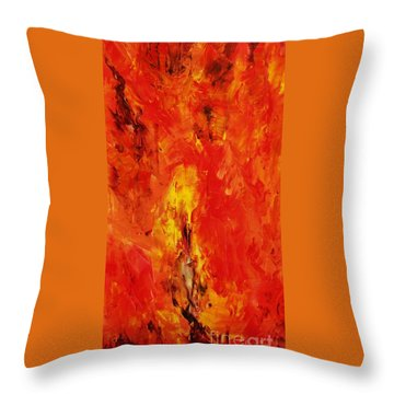 The Elements Fire #1 Throw Pillow