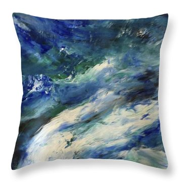 The Elements Water #4 Throw Pillow