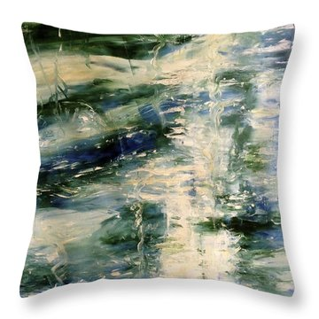 The Elements Water #5 Throw Pillow