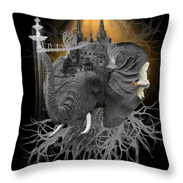 The Elephant Kingdom Throw Pillow