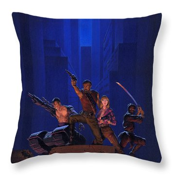 The Eliminators Throw Pillow by Richard Hescox