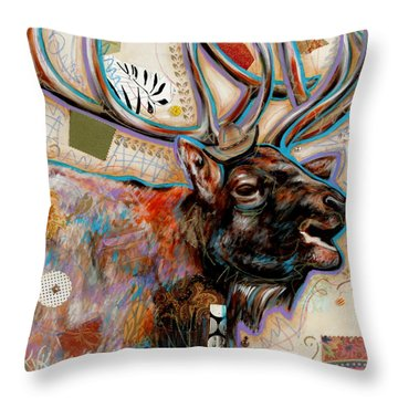 The Elk Throw Pillow