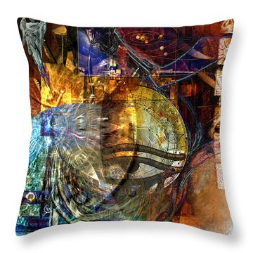 Throw Pillow featuring the digital art The Embers Of Memory by Kenneth Armand Johnson