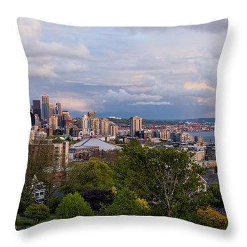 The Emerald City  Throw Pillow by Anthony Citro