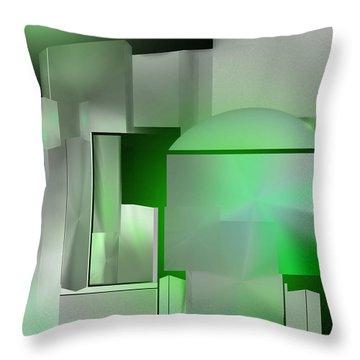 The Emerald City Throw Pillow by John Krakora