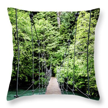 The Emerald Crossing Throw Pillow