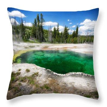 The Emerald Eye Throw Pillow