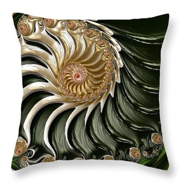 The Emerald Queen's Nautilus Throw Pillow