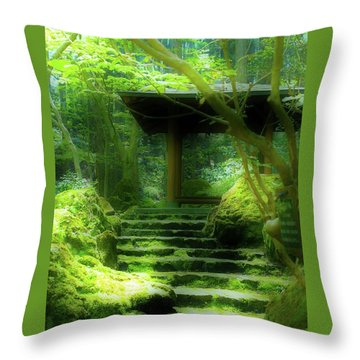 The Emerald Stairs Throw Pillow by Tim Ernst