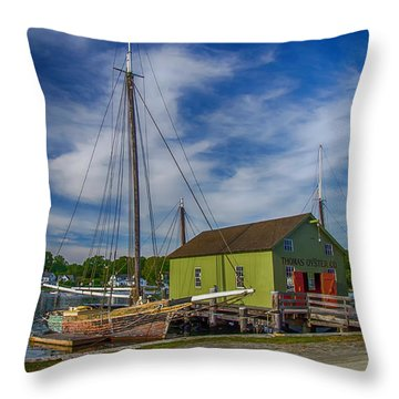 The Emma C. Berry, Mystic Seaport Museum Throw Pillow