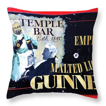 The Emperor Of Malted Liquors Throw Pillow by John Rizzuto