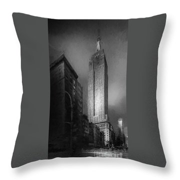 Throw Pillow featuring the photograph The Empire State Ch by Marvin Spates