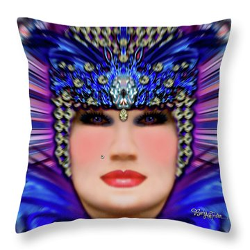 Throw Pillow featuring the photograph The Empress Barbaka #192 by Barbara Tristan