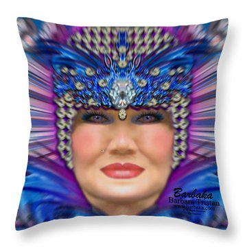 Throw Pillow featuring the photograph The Empress by Barbara Tristan