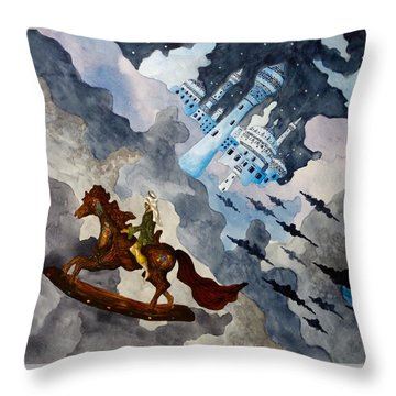 The Enchanted Horse Throw Pillow