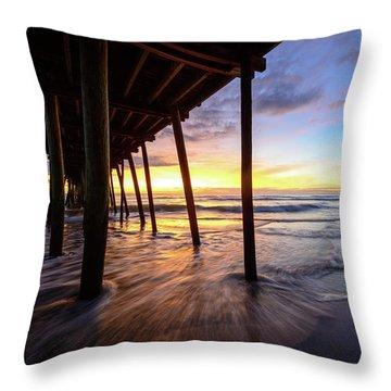 The Enchanted Pier Throw Pillow