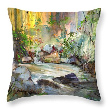 The Enchanted Pool Throw Pillow