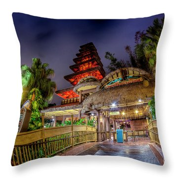 The Enchanted Tiki Room Throw Pillow