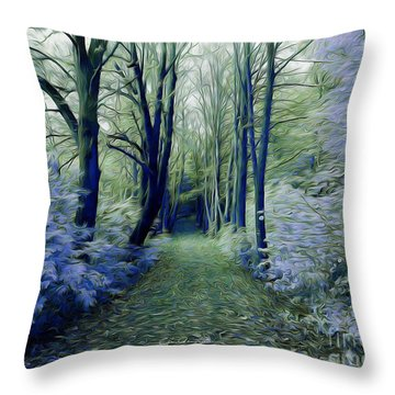 The Enchanted Wood Throw Pillow by Chris Armytage