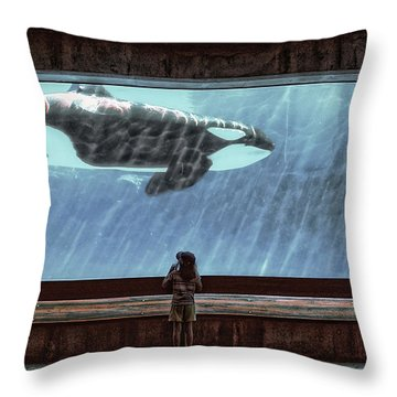 The Encounter Throw Pillow by Heather  Rivet