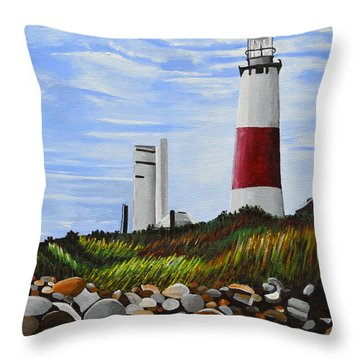 The End Throw Pillow by Donna Blossom