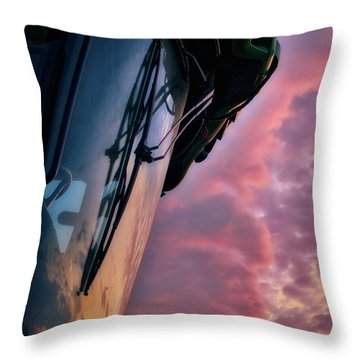 Throw Pillow featuring the photograph The End Of A Long Day by Mark Dodd