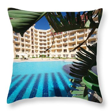 Throw Pillow featuring the photograph The End Of My Jungle by Jez C Self