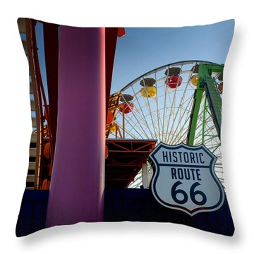 The End Of Route 66 1 Throw Pillow