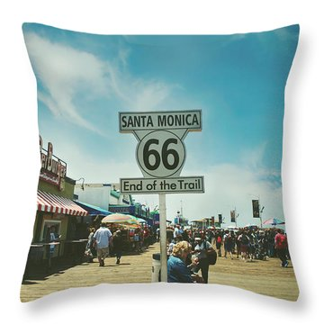 The End Of Sixty-six Throw Pillow by Laurie Search