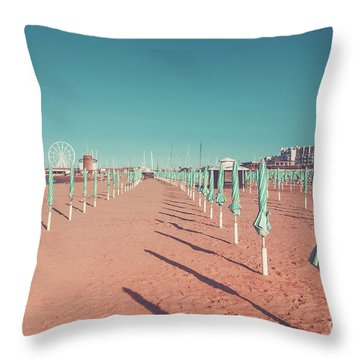 The End Of Summer Season  Throw Pillow