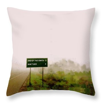 The End Of The Earth Throw Pillow