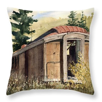 Throw Pillow featuring the painting The End Of The Line by Sam Sidders