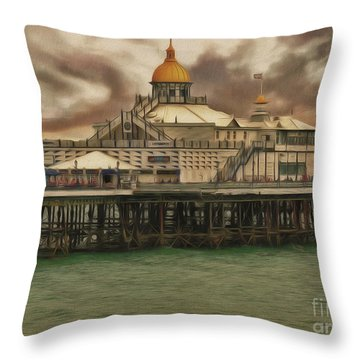 The End Of The Pier Show Throw Pillow