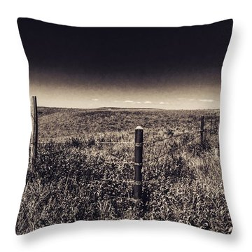 The End Of The Range Throw Pillow