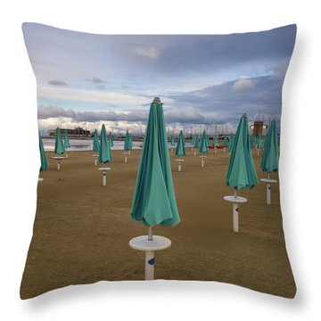 The End Of The Season In Rimini Throw Pillow