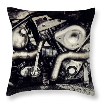 Throw Pillow featuring the photograph The Engine by Ari Salmela