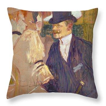 The Englishman  Throw Pillow
