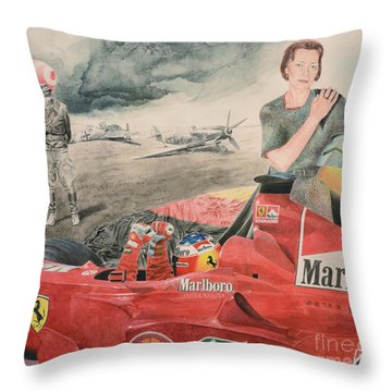 The Enigma Of Erich Hartmann Throw Pillow by Oleg Konin