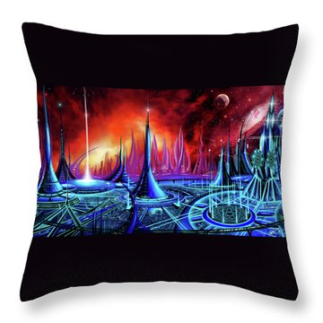 The Enneanoveum Throw Pillow by James Christopher Hill