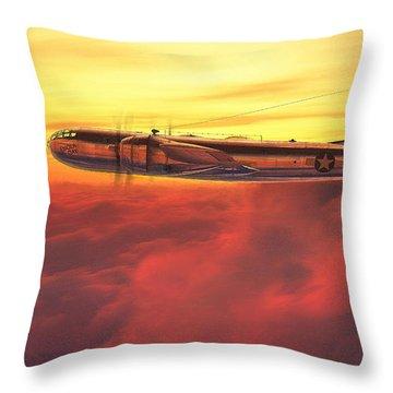 Enola Gay B-29 Superfortress Throw Pillow by David Collins