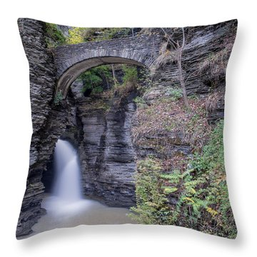 The Entrance Throw Pillow by Angelo Marcialis