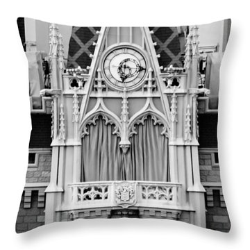 The Entry - Bw Throw Pillow