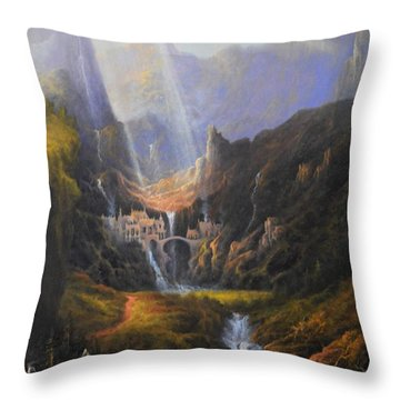 The Epic Journey Throw Pillow
