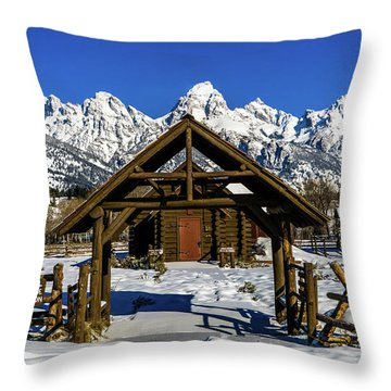 Throw Pillow featuring the photograph The Episcopal Chapel Of The Transfiguration by TL Mair